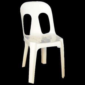 Pipee Slotted Chair, White