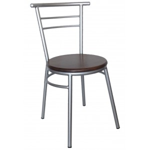 "Ryan Side Chair Steel Frame ""Light Oak"""