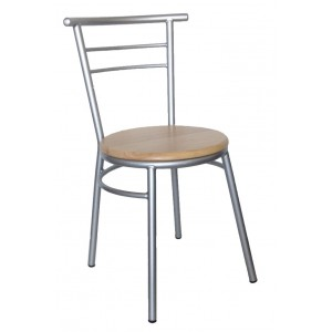 "Ryan Side Chair Steel Frame ""Natural"""