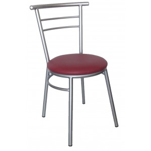 "Ryan Side Chair Steel Frame ""Wine"""