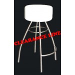 Comfort Bar Stool - White on Stainless Steel Frame