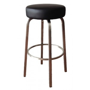 Tapas 650mm Kitchen Stool Stainless Steel Frame-Black
