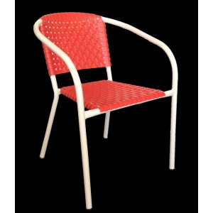 ".Ivy Stackable Arm Chair ""Red"""