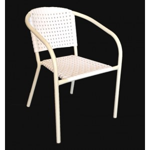 ".Ivy Stackable Arm Chair ""White"""