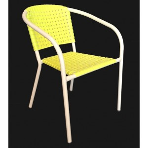 ".Ivy Stackable Arm Chair ""Yellow"""