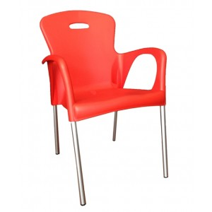 ".Cabana Stackable Arm Chair ""Red"""
