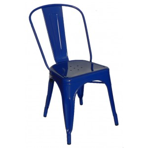 "Galvanised Steel Chair ""Blue"""