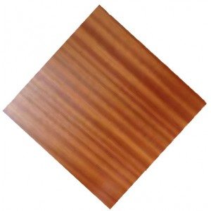 900mm, Timber Veneer Table Top, Rebate Edge, Square,  Sapele