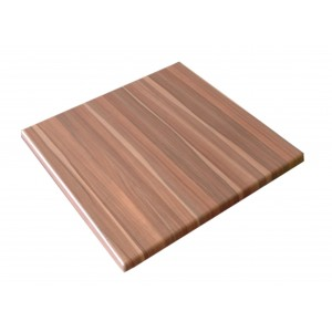600mm, Heatproof Table Top, Square, Teak
