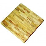 900mm, Timber Rubberwood Table Top, Bullnose, Square, Natural