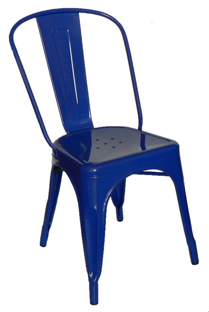 Galvanised Steel Chair Blue
