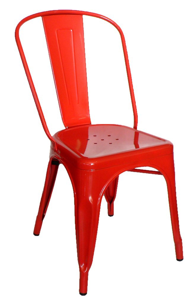 Galvanised Steel Chair Red