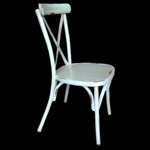.Cross Back Aluminium Dining Chair - Vintage Blue Colour