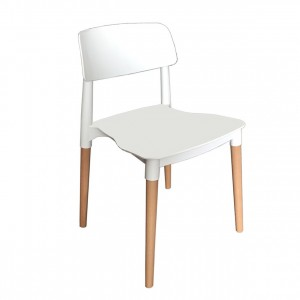 Florence Stackable Side Chair, Whit