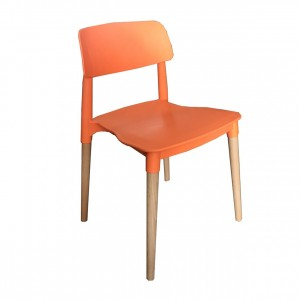 Florence Stackable Side Chair, Orange