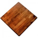 900mm, Timber Rubberwood Table Top, Bullnose, Square, Light Oak