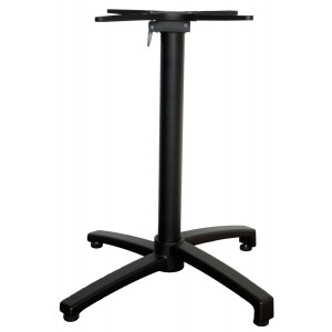 Saturn 4 Way Aluminium Folding Stackable Table Base - Black
