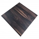 700mm, Melamine, Square, Chestnut