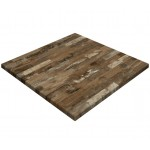 800mm, Gentas Heatproof Table Top, Square, Rustic Blockwood