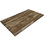 800x1400mm, Gentas Heatproof Table Top, Rectangular, Rustic Blockwood