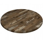 800mm, Gentas Heatproof Table Top, Round, Rustic Blockwood