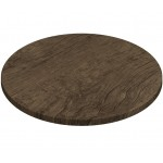 800mm, Gentas Heatproof Table Top, Round, Rustic Dark Oak