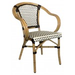 Rattan Wicker Armchair (Chocolate/Chocolate)