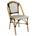 Rattan Wicker Sidechair (Chocolate/Chocolate)