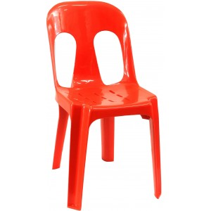 Pipee Slotted Chair, Red