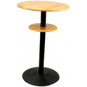 Rubberwood Dry Bar on Black Base 2 Stage, Natural