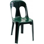 Pipee Slotted Chair, Dark Green