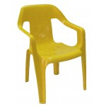 Childrens Plastic Chair - Yellow