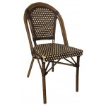 Rattan Wicker Sidechair (Dark/Chocolate)