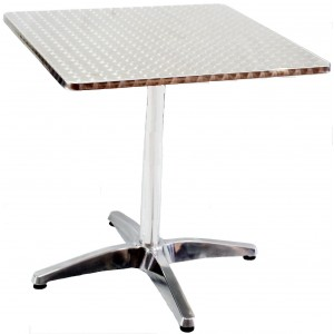 Stainless Steel Moulded Table 800mm, Square