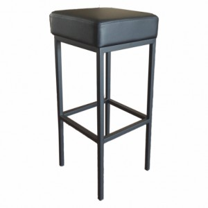 General Purpose Bar Stool,Black Seat, Black Frame 75cm