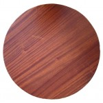 700mm, Timber Veneer Table Top, Rebate Edge, Round,  Sapele