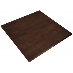 800mm, Solid Rubberwood Table Top, Square, Wenge