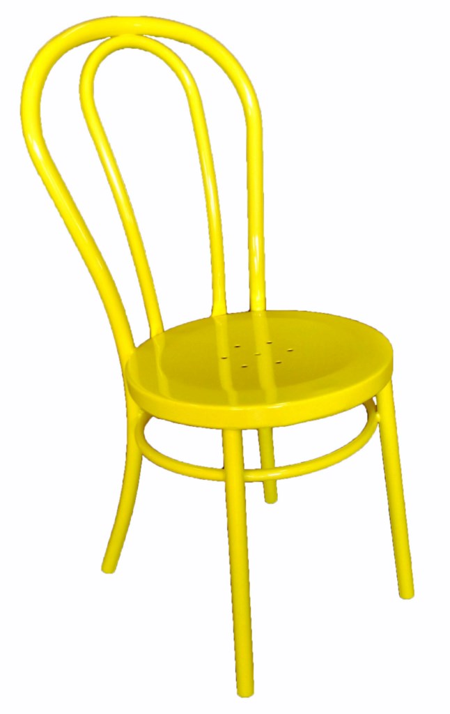 Bistro Bentwood Style Galvanised Chair Yellow