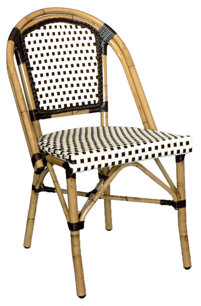 Rattan Wicker Sidechair (Chocolate-Chocolate)