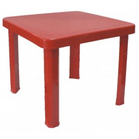 Childrens Plastic Table - Red