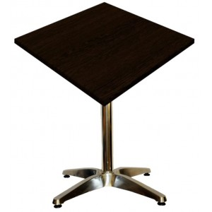 600mm Square Wenge Heat Proof Table Top on Standard Aluminium Base