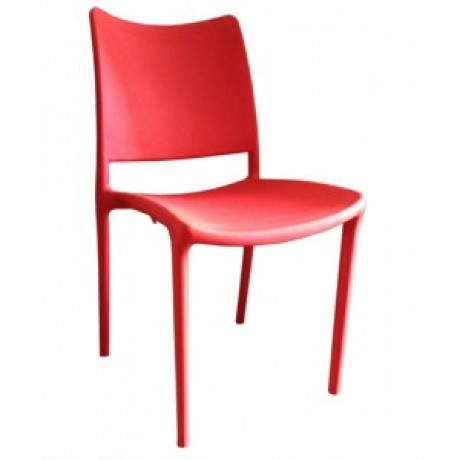 PagoPago Stackable Side Chair Red