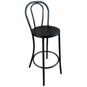 Thonet Bentwood Aluminium Bar Stool - Black