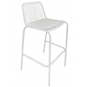 Wire Bar Stool - White