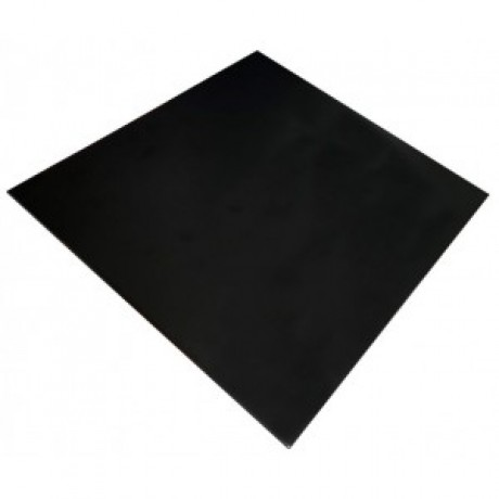 600mm, Compact Laminate, Square, Black