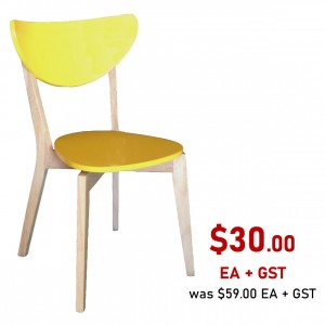 Alisha Chair Light Yellow