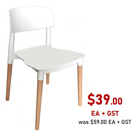Florence Stackable Side Chair, White