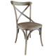 Cross Back Dining Chair - Wood